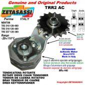 "Tendicatena rotante TRR2AC con pignone tendicatena doppio 10B2 5\8""x3\8"" Z17 Leva 227 Newton 120:380"