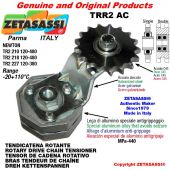 "Tendicatena rotante TRR2AC con pignone tendicatena doppio 12B2 3\4""x7\16"" Z15 Leva 227 Newton 120:380"
