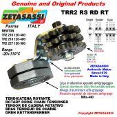 "Tendicatena rotante TRR2RSRDRT con pignone tendicatena 20B2 1""¼x3\4"" doppio Z9 Leva 227 Newton 120:380"