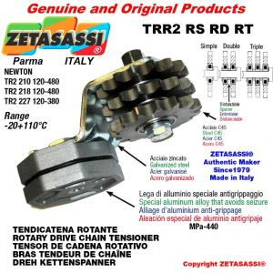"Tendicatena rotante TRR2RSRDRT con pignone tendicatena 16B2 1""x17 doppio Z12 Leva 227 Newton 120:380"