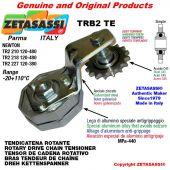 "Tendicatena rotante TRB2TE con pignone tendicatena semplice 12B1 3\4""x7\16"" Z15 temprati Leva 227 Newton 120:380"