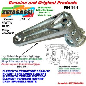 ELEMENTO TENDITORE ROTANTE RH111 filetto M8x1,25 mm per attacco accessori Newton 10-120