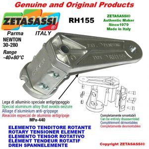 ELEMENTO TENSOR ROTATIVO RH155 rosca M10x1,5 mm para la fijación de accesorios Newton 30-280