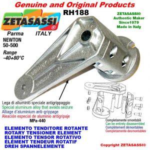 ELEMENTO TENSOR ROTATIVO RH188 rosca M10x1,5 mm para la fijación de accesorios Newton 50-500