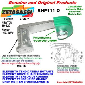 """ELEMENTO TENDICATENA ROTANTE RHP111O 06B2 3/8""""x7/32"""" doppia Newton 10-120"""