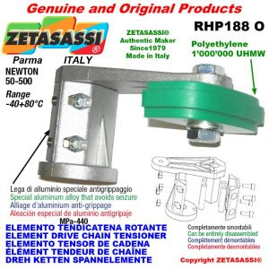 "Elemento tendicatena rotante RHP188O 06B1 3/8""x7/32"" semplice Newton 50-500"