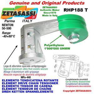 """Elemento tendicatena rotante RHP188T 06B2 3/8""""x7/32"""" doppio Newton 50-500"""
