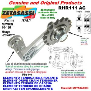 "ELEMENT DRIVE CHAIN TENSIONER RHR111AC with idler sprocket double 08B2 1\2""x5\16"" Z16 Newton 10-120"