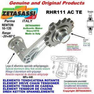 "Elemento tendicatena rotante RHR111ACTE con pignone tendicatena semplice 06B1 3\8""x7\32"" Z21 temprati Newton 10-120"
