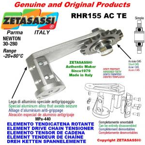 "ELEMENTO TENSOR DE CADENA RHR155ACTE con piñon tensor simple 16B1 1""x17 Z12 endurecido Newton 30-280"