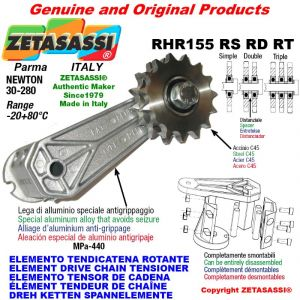 "Elemento tendicatena rotante RHR155RSRDRT con pignone tendicatena 08B1 1\2""x5\16"" semplice Z15 Newton 30-280"