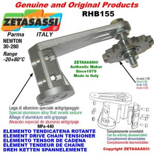 "Elemento tendicatena rotante RHB155 con pignone tendicatena doppio 06B2 3\8""x7\32"" Z21 Newton 30-280"