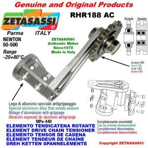 "Elemento tendicatena rotante RHR188AC con pignone tendicatena doppio 10B2 5\8""x3\8"" Z17 Newton 50-500"
