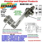 "Elemento tendicatena rotante RHR188AC con pignone tendicatena semplice 20B1 1""¼x3\4"" Z9 Newton 50-500"