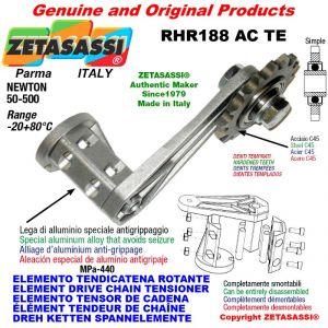 "Elemento tendicatena rotante RHR188ACTE con pignone tendicatena semplice 06B1 3\8""x7\32"" Z21 temprati Newton 50-500"