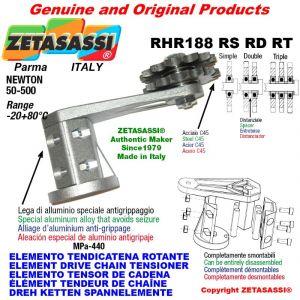 "Elemento tendicatena rotante RHR188RSRDRT con pignone tendicatena 08B2 1\2""x5\16"" doppio Z15 Newton 50-500"