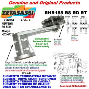 "Elemento tendicatena rotante RHR188RSRDRT con pignone tendicatena 06B1 3\8""x7\32"" semplice Z15 Newton 50-500"