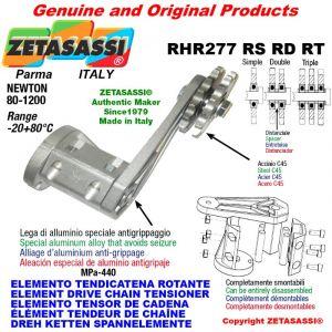 "Elemento tendicatena rotante RHR277RSRDRT con pignone tendicatena 16B2 1""x17 doppio Z12 Newton 80-1200"