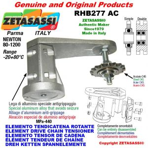 "Elemento tendicatena rotante RHB277 con pignone tendicatena doppio 06B2 3\8""x7\32"" Z21 Newton 80-1200"