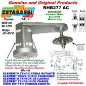 """Elemento tendicatena rotante RHB277 con pignone tendicatena semplice 28B1 1""""¾x1""""¼ Z9 Newton 80-1200"""