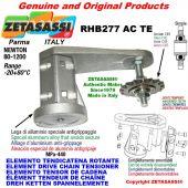 "Elemento tendicatena rotante RHB277TE con pignone tendicatena semplice 10B1 5\8""x3\8"" Z17 temprati Newton 80-1200"