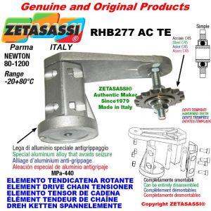 "Elemento tendicatena rotante RHB277TE con pignone tendicatena semplice 12B1 3\4""x7\16"" Z15 temprati Newton 80-1200"
