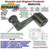 Elemento tendicinghia rotante RHPU155 con rullo tendicinghia Ø30xL35 in alluminio Newton 30:280