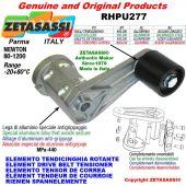 Elemento tendicinghia rotante RHPU277 con rullo tendicinghia Ø80xL80 in alluminio Newton 80:1200