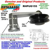 "ELEMENT DRIVE BELT TENSIONER RHPUG155 with A/SPA rim pulley and bearings type PUG 4"" in nylon Newton 30:280"