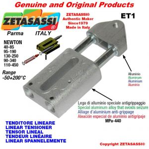 TENDEUR LINÉAIRE ET1 filetage M8x1,25 mm pour fixation de accessories Newton 40-85