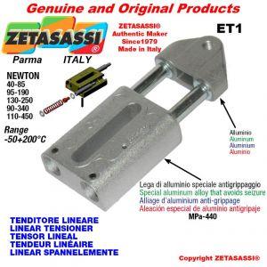 TENDEUR LINÉAIRE ET1 filetage M12x1,75 mm pour fixation de accessories Newton 110-450