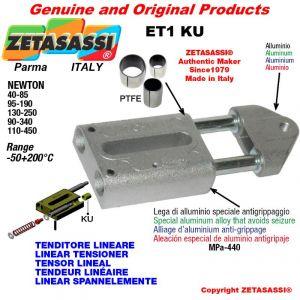 Tenditore lineare ET1KU M8x1,25mm Newton 90-340 con boccole PTFE