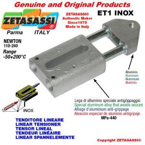 Tenditore lineare ET1INOX serie inox M8x1,25mm Newton 110-240