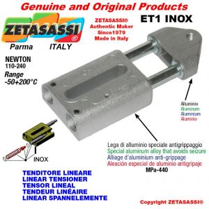 TENDEUR LINÉAIRE ET1INOX type INOX filetage M12x1,75 mm pour fixation de accessories Newton 110-240