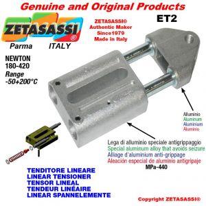 LINEAR SPANNELEMENTE ET2 mit Gewinde M12x1,75 mm zur Anbringung von Zubehör Newton 180-420