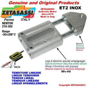 LINEAR SPANNELEMENTE ET2INOX Typ INOX mit Gewinde M12x1,75 mm zur Anbringung von Zubehör Newton 210-350