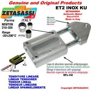 LINEAR SPANNELEMENTE Typ ET2INOXKU mit Gewinde M10x1,5 mm zur Anbringung von Zubehör N 210-350 mit PTFE-Gleitbuchsen
