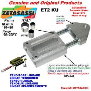 LINEAR SPANNELEMENTE ET2KU mit Gewinde M16x2 mm zur Anbringung von Zubehör Newton 180-420 mit PTFE-Gleitbuchsen