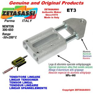 LINEAR SPANNELEMENTE ET3 mit Gewinde M12x1,75 mm zur Anbringung von Zubehör Newton 300-650