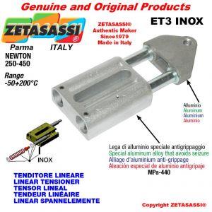 TENDEUR LINÉAIRE ET3INOX type INOX filetage M12x1,75 mm pour fixation de accessories Newton 250-450