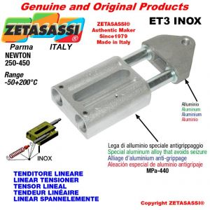 TENSOR LINEAL ET3INOX tipo INOX rosca M10x1,5 mm para la fijación de accesorios Newton 250-450