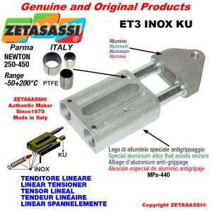 LINEAR SPANNELEMENTE Typ ET3INOXKU mit Gewinde M10x1,5 mm zur Anbringung von Zubehör N 250-450 mit PTFE-Gleitbuchsen