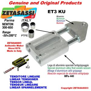 TENDEUR LINÉAIRE ET3KU filetage M12x1,75 mm pour fixation de accessories Newton 300-650 avec bagues PTFE