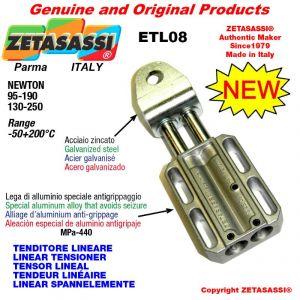TENSOR LINEAL ETL08 agujero Ø12,5mm para la fijación de accesorios Newton 95-190