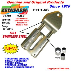 LINEAR TENSIONER ETL1-SS Completely in stainless steel hole Ø12,5mm for attachment of accessories Newton 110-240