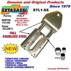 TENDITORE LINEARE ETL1-SS Completamente in acciaio inox foro Ø12,5mm per attacco accessori Newton 110-240
