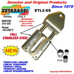LINEAR TENSIONER ETL2-SS Completely in stainless steel hole Ø12,5mm for attachment of accessories Newton 210-350