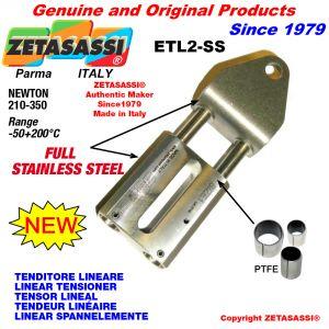 Tenditore lineare ETL2-SS Completamente in acciaio inox foro Ø12,5mm Newton 210-350