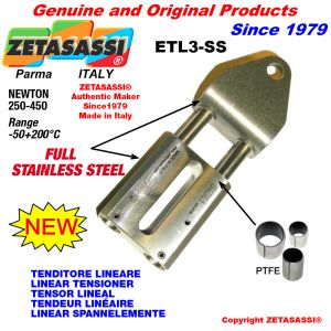 LINEAR TENSIONER ETL3-SS Completely in stainless steel hole Ø12,5mm for attachment of accessories Newton 250-450