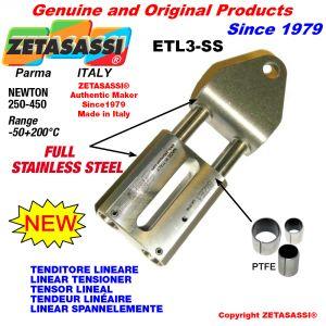 Tenditore lineare ETL3-SS Completamente in acciaio inox foro Ø12,5mm Newton 250-450
